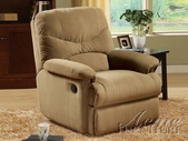 ACME 00627 LIGHT BROWN MICROFIBER RECLINER
