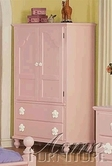 ACME 00743 PINK W/WH FLOWER TV ARMOIRE
