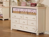 ACME 00761 CREAM/PEACH DRESSER W/3 BASKETS