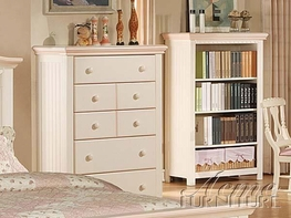 ACME 00762 CREAM/PEACH 5 DRAWER CHEST