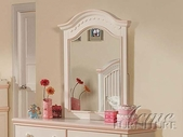 ACME 00767 CREAM/PEACH VERTICAL MIRROR