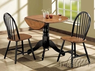 ACME 00878 BK/CH-OAK 3PC PK DINING SET (SPINDLE SC)