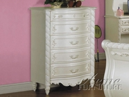 ACME 01016 PEARL WH 5-DRWR CHEST