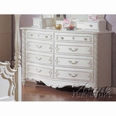 ACME 01020 PEARL WH DRESSER 8 DRAWERS