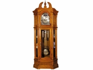 ACME 01410 GRANDFATHER CLOCK OAK WOOD