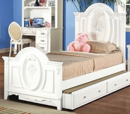ACME 01677F FLORA WH FULL PANEL BED HB/FB/R -W/P2