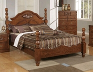 ACME 01720Q P. WALNUT QUEEN BED HB/FB/R