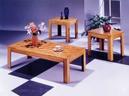 ACME 02168 3PC PK C/E TABLE SET (OAK OR BK)