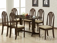 Acme 02190TE-CE Stockholm Espresso Solid Wood Top Dining Set