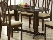 Acme 02190TE Stockholm Espresso Solid Wood Top Dining Table