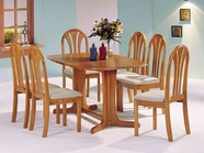 Acme 02190TO-CO Stockholm Oak Solid Wood Top Dining Set
