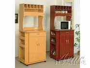 ACME 02325 CHERRY FINISH KITCHEN CART