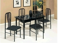 ACME 02406/7BK BLACK 5 PC PK DINING SET