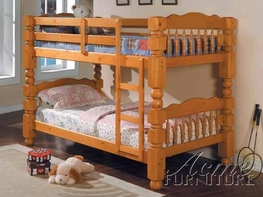 ACME 02575C HONEY OAK WOODEN BUNKBED