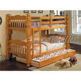 Acme 02578C Honey Oak Wooden Trundle For Bunk Bed