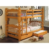 Acme 02579C Honey Oak 2Pc Drawers For Wooden Bunkbed