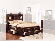 ACME 04070VQ ESPRESSO STRG BED QUEEN HB/FB/L/R (4CTN)