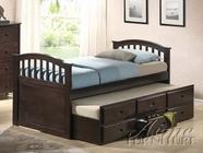 ACME 04990T D. WALNUT TWIN CAPTAIN BED&TRUNDLE 3CTN