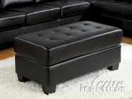 Acme 05213 Contemporary Black Bonded Ottoman