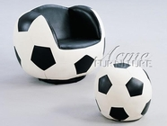 ACME 05525 SOCCER CHAIR & OTTOMAN