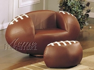 ACME 05526 FOOTBALL CHAIR & OTTOMAN