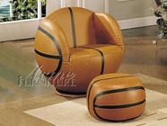 Acme 05527 Basketball Chair & Ottoman
