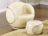 ACME 05528 BASEBALL CHAIR & OTTOMAN