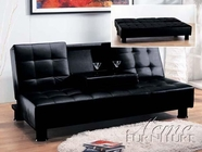 ACME 05574 BK PU ADJUSTABLE SOFA (NO/CA FOAM) FABRIC#PU-A1 BLACK