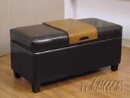 ACME 05639 BYCAST STORAGE BENCH W/TRAY TABLE