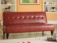 ACME 05856C RED PU BYCAST ADJUSTABLE SOFA