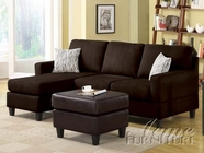 ACME 05907B SECTIONAL SOFA CHOCOLATE MICROFIBER