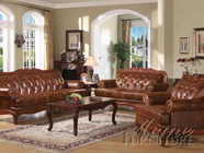 Acme 05945-46 Birmingham Tri-Tone Genuine Leather Sofa Set