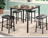 ACME 06050 5PC PACK CTR HGT DINING W/FAUX MARBLE