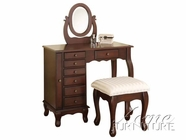 ACME 06554A 3PC VANITY/STOOL & MIRROR (2CTN)