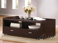 Acme 06612-11 Modern Espresso Square Storage Coffee Table and End Table Set