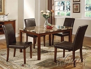 ACME 06770 5PC PACK DINING W/FAUX MARBLE TOP -W/E0