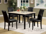 ACME 06776 5PC PACK DINING WHITE W/FAUX MARBLE TOP -W/E0