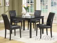 ACME 06778 5PC PACK DINING BLACK W/FAUX MARBLE TOP -W/E0