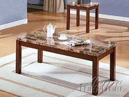 ACME 06787B 3PC PK C/E TBL SET W/FAUX MARBLE TOP