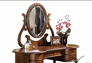 ACME 06826 VANITY SET: MIRROR-W/P2