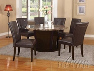 "ACME 07005 54""D RD TABLE W/BROWN MARBLE TOP (T/ST)"