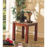 ACME 07373A Bologna Marble Top End Table