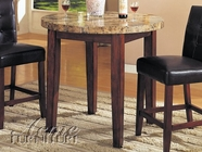 Acme 07375 Cntr Ht Tbl W/ Marble Top (Bar Chair 7242)