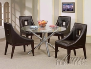 ACME 07965-4X67 Glass Top Dining Table Set