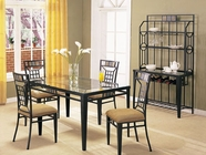 ACME 08285-4X86 Glass Top Dining Table Set
