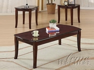 ACME 09301 3PC PK CHERRY COFFEE/END TABLES SET