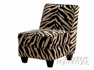 ACME 10070 ZEBRA FABRIC ACCENT CHAIR