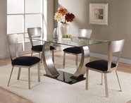 ACME 10090-4X93 8MM Clear Glass Dining Table Set