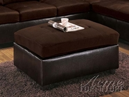 ACME 10102 CHOCOLATE OTTOMAN