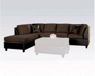 ACME 10110 Chocolate Sectional 2Pc